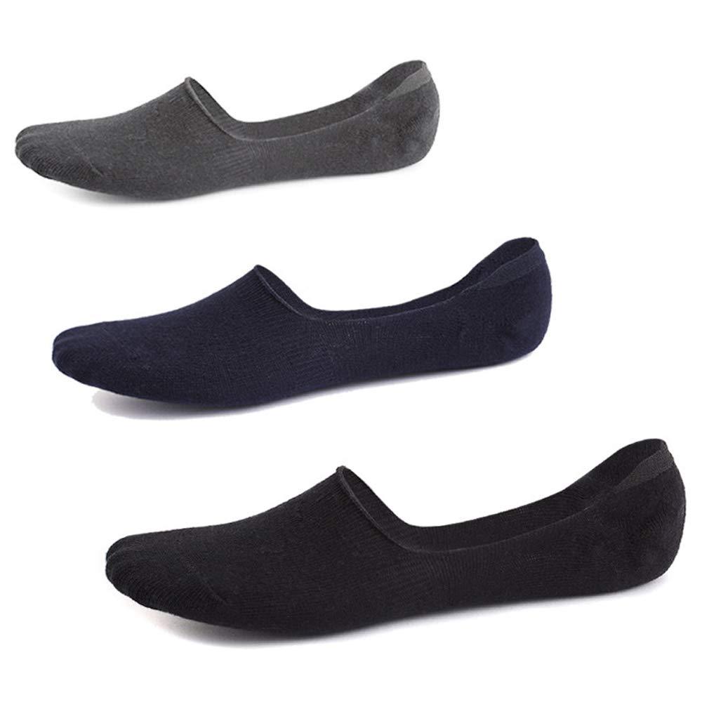 Ueither Calcetines Invisibles Hombre Cortos Transpirable de Algod/ón El/ástco No Show Antideslizante Calcet/ínes