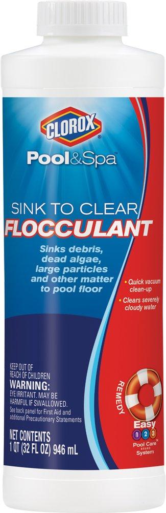 Clorox Pool&Spa Sink to Clear Flocculent, 1-Quart 59032CLX