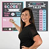 Gender Reveal Party Supplies and Decorations - 6 XL Game Posters 16x20 Inches, Kit Includes Old Wives Tales, Voting Scoreboard, Baby Name Suggestions, Welcome Sign and Team Pink or Blue Photo Signs