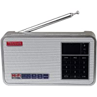 Tecsun X3 Built in an Aluminum case with Rechargeable FM Radio with ETM, MP3 Player with Built-in Micro SD Card Slot & Portable Hi-Fi Speaker with DSP Bass for Desktop & Laptop Computers, Color Silver