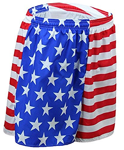 B.O.A Boa Men's Baggy Running Shorts US Flag American Flag(1510P) (US Flag, - Shorts Running Flag American