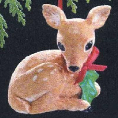 Gentle Fawn 1989 Hallmark Ornament QX5485