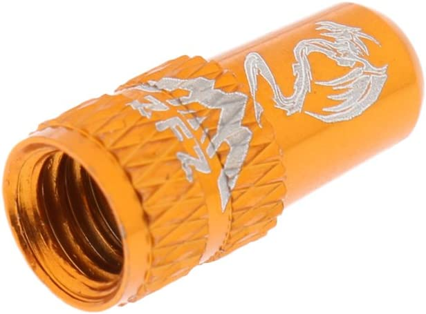 2 x BIKE ALUMINIUM PRESTA VALVE CAP MTB LIGHT DUST COVER BICYCLE ORANGE