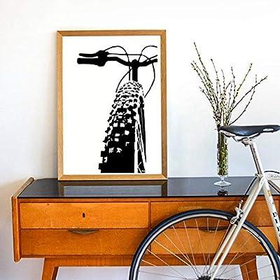 Geiqianjiumai Bicicleta Arte Inspirador Bicicleta Lienzo Pintura Mural Bicicleta Lienzo Arte Pintura y póster Regalo Familia Habitación Infantil Decoración Pintura sin Marco 40x50 cm: Amazon.es: Hogar