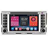 Autosion In Dash Android 6.0 Car DVD Player Sat Nav Radio Head Unit GPS Navigation Stereo for Hyundai Santa Fe 2006 2007 2008 2009 2010 2011 2012 Support Bluetooth SD USB Radio OBD WIFI DVR 1080P
