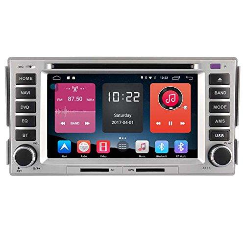 Autosion In Dash Android 6.0 Car DVD Player Sat Nav Radio Head Unit GPS Navigation Stereo for Hyundai Santa Fe 2006 2007 2008 2009 2010 2011 2012 Support Bluetooth SD USB Radio OBD WIFI DVR 1080P by Autosion
