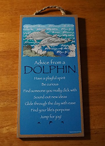 Advice From A Dolphin - Find Life'S Porpoise Jump For Joy Beach Home Decor Sign (Dolphin Switchplate)