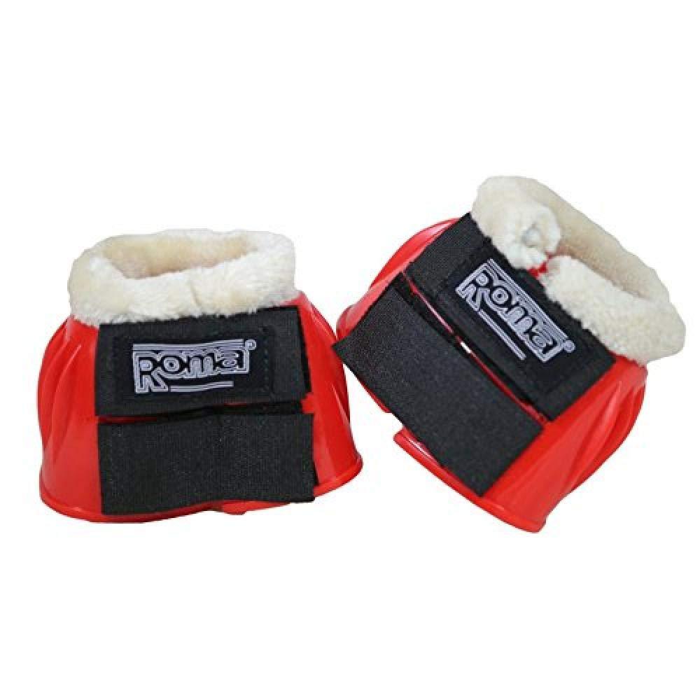 White//White Full Roma Fleece Trim Rubber Bell Boots