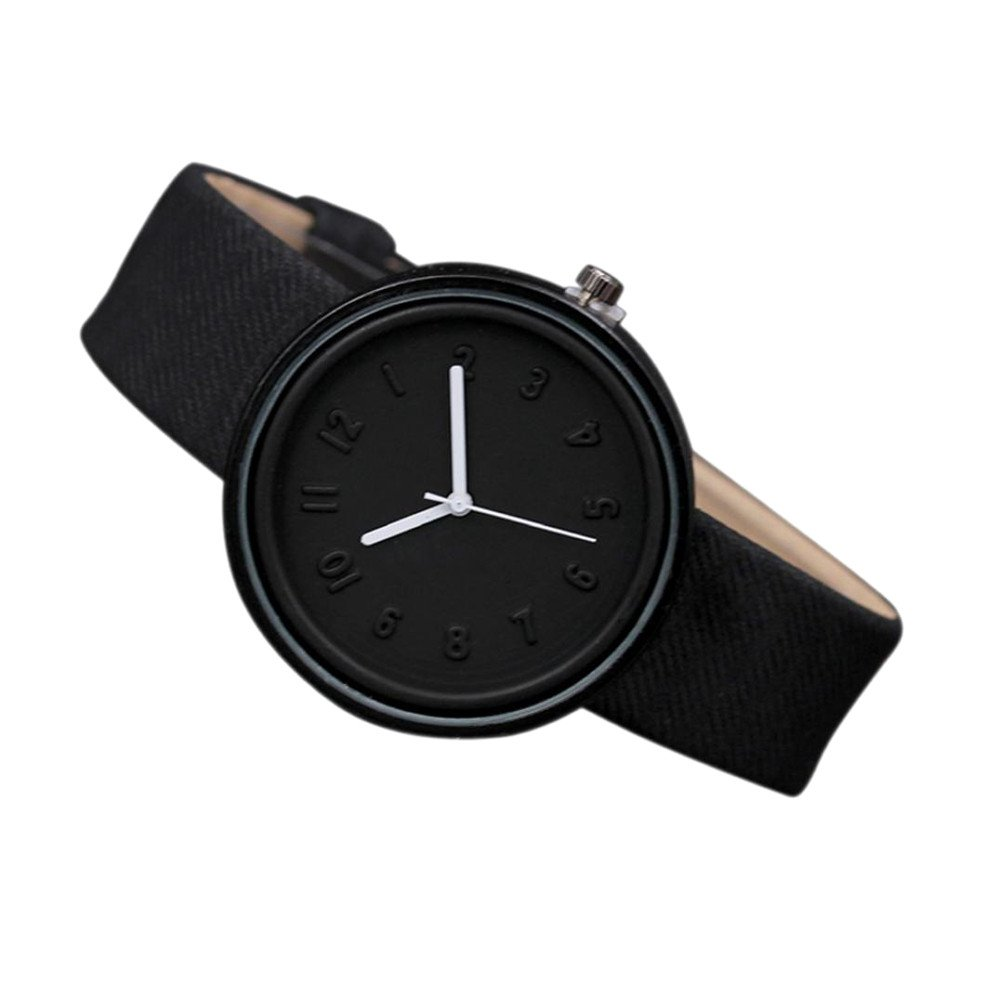 Unisex Simple Fashion Number Watches Quartz Canvas Belt Wrist Watch LEEDY (Bleu): Amazon.fr: Montres