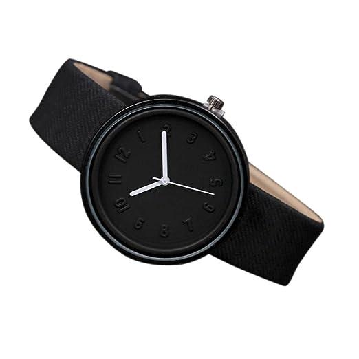 Relojes de Moda Mujer Hombre Reloj de Pulsera de Cuarzo Cinturón de Lona Relojes Unisex de números Simples Relojes de niñas niño Relojes Mujer Originales ...