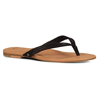 UGG Women's Allaria II Mar Black Suede Sandal 6 B ...