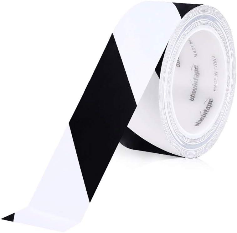 HUQUAN Warning Tape PVC Black Yellow Zebra Line Warning Landmark Stickers Ground 5S Logo Color Lined Floor Tape Color : J, Size : 80mm33 m