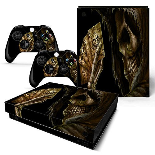 CSBC Skins Xbox One X Design Foils Faceplate Set - Poker Skull Design