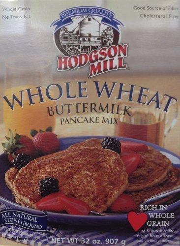 Hodgson Mill WHOLE WHEAT BUTTERMILK Pancake Mix 32oz (3 Pack) by Hodgson ()