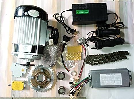 GZFTM 750W 60v Engranaje sin escobillas deceleración del Motor Kit de Bicicleta eléctrica Kit de conversión de Bicicleta eléctrica luz Triciclo eléctrico Kit: Amazon.es: Deportes y aire libre