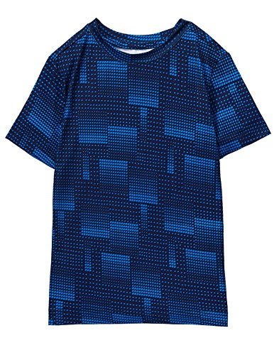Gymboree Boys' Short Sleeve Active Tee, Blue, L