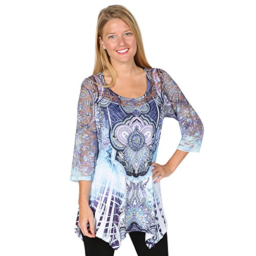 Womens Tunic Top Sleeve Exotic product image