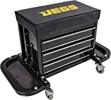 JEGS Performance Products 81155 3 Drawer Tool Box Stool