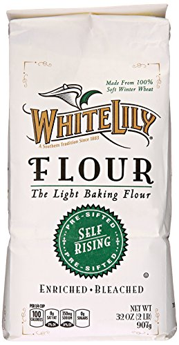 White Lily Self-Rising Bleached Enriched Pre-Sifted Flour, 32 Ounce (Enriched Bleached Wheat Flour)
