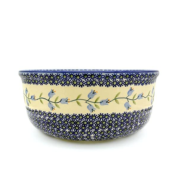 Polish Pottery Salad Bowl Deep in Pattern Agnes