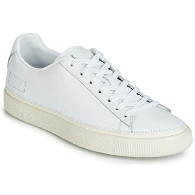 puma basket trainers white