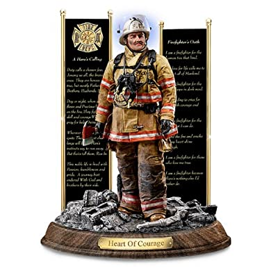 """""""Heart Of Courage"""" A Tribute To Firefighter Sculpture by The Bradford Exchange"""