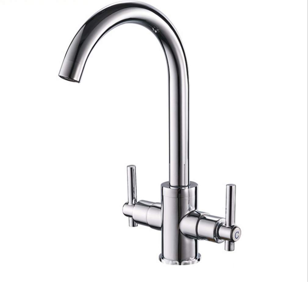 Double Kitchen hot and Cold Water Faucet Kitchen Sink Faucet