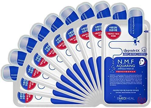 Mediheal N.M.F(nmf) Aquaring Ampoule Mask EX. 27ml × 10 Upgrade Sheets