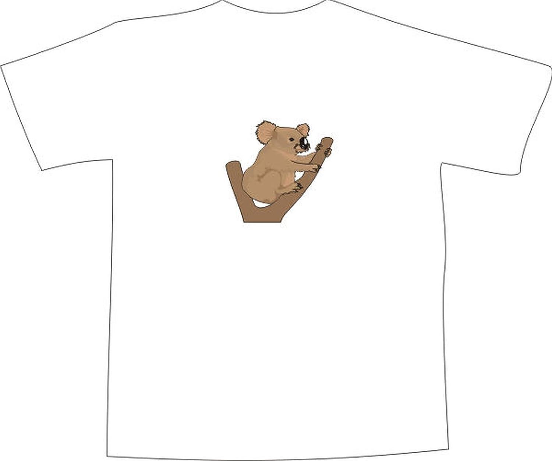 T-Shirt E577 Schönes T-Shirt mit farbigem Brustaufdruck - Logo / Grafik - Comic  Design - Koala Bär am Baum in Australien: Amazon.de: Bekleidung