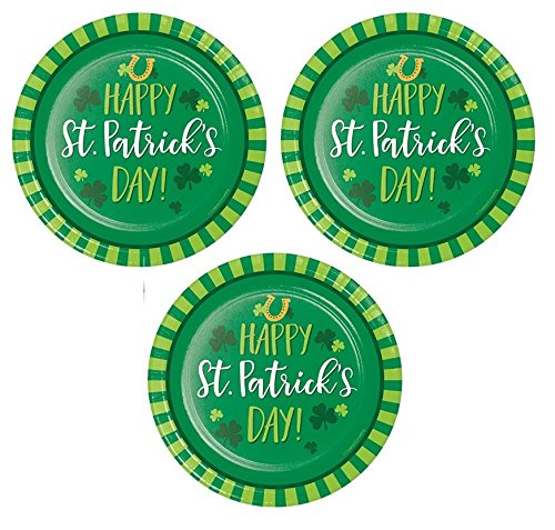 Funny St. Patricks Day Paper Plates Dessert Appetizer Cocktail Party Supplies 24 Count Happy St. Patricks Day