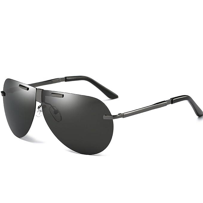 JULI Hombre gafas de sol Aviador polarizado de conducción ...