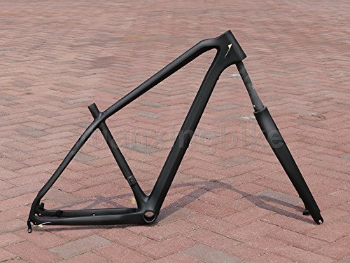 225# Toray Carbon MTB Frameset Full Carbon UD Glossy Mountain Bike 29ER Frame 17'' Fork Headset by yuanxingbike
