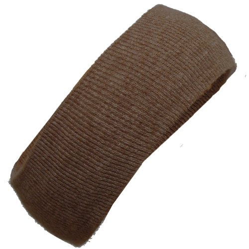 BRUBAKER Mens Or Womans Knit Headband Lambswool / Angora dark -