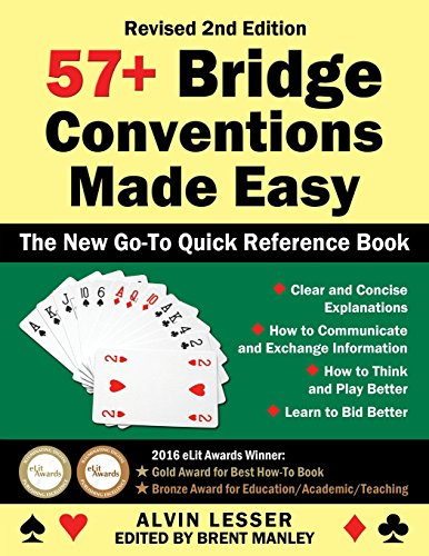 57+ Bridge Conventions Made Easy: The New Go-To Quick Reference Book by Gsl Galactic Publishing