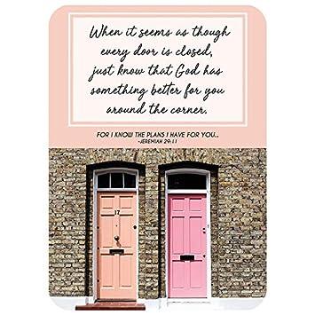 Amazon com: 25pk Verse Card - When A Door Closes: Home & Kitchen