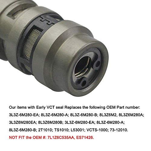 2 Set VCT Camshaft Timing Control Solenoid Valve Set Fit For Ford 3V 5 4L  4 6L F150 LINCOLN MERCURY (6 PCS) 2 Solenoids + 2 Seals + 2 Screws
