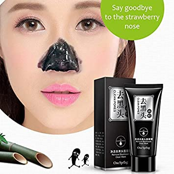 Imozy224(TM) Black Mask Acne Blackhead Removal Treatment Whitening Moisturizing Skin Care Peel Mask