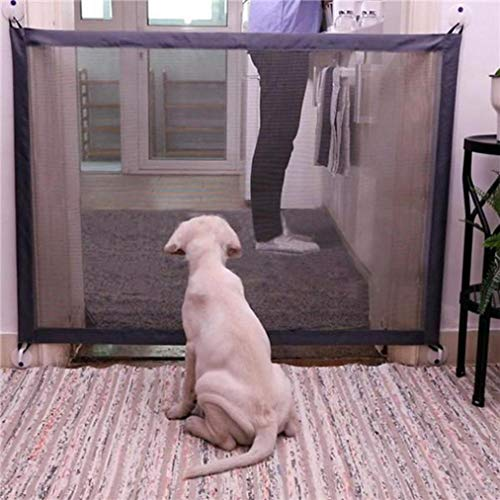 Price comparison product image DEESEE(TM) Clearance Sale 2 Style Magic Gate Portable Folding Safety Guard Pets Dog Cat Isolated Gauze (B:11072cm)