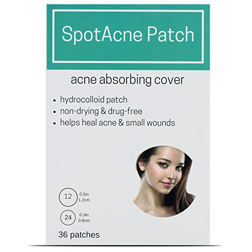 SpotAcne Patch (36 Patches) Skin Blemish Treatment with Hydrocolloid   Oil and Pimple Absorbing