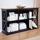 Belham Living Hampton TV Stand Bookcase - Black/Oak