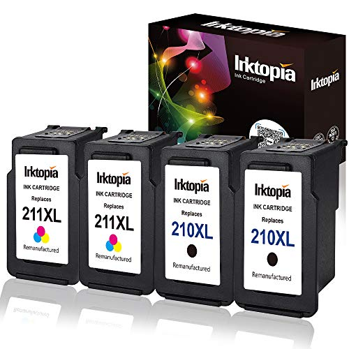 - 2 Sets Remanufactured Ink Cartridge Replacement For Canon PG 210XL & CL 211XL (2 Black,2 Color)Comptaible With Canon PIXMA IP2700 IP2702 MP240 MP250 MP280 MP490 MP495 MP499 MX320 MX330 MX360 MX420 ect