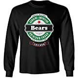 Football- Long Sleeve Bears Beer Shirt - Sizes up to 6XL