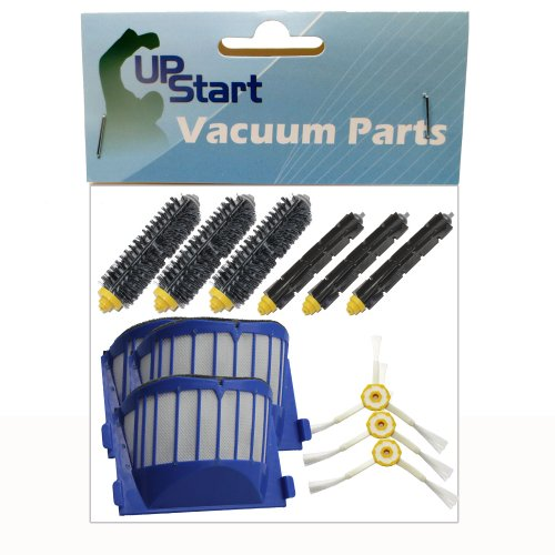 Replacement iRobot Roomba 595 Pet Series Filters, Bristle Brushes, Flexible Beater Brushes and 3-Arm Side Brushes - Kit Includes 3 AeroVac Filters, 3 Bristle Brushes, 3 Flexible Beater Brushes and 3 3-Arm Side Brushes