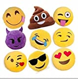 "Gloworks 12"" Emoji Pillow (Set of 10) Assorted"