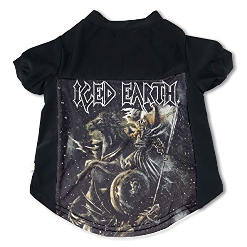 (Pets Iced Earth Adorable Music Band Fans Pet Tshirts Clothing M Gift)