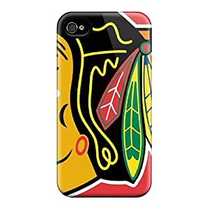 Premium Protection Chicago Blackhawks Case Cover For Iphone 4/4s- Retail Packaging