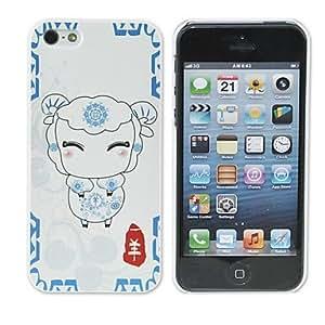CL - Caso de la serie del zodiaco de cabra patrón elegante de la PC para el iphone 5