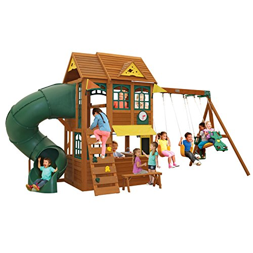 - KidKraft Summerlin Cedar Wood Swing Set / Playset F24918