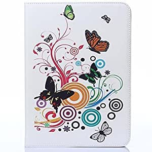 ZCL Color Butterfly Pattern PU Leather and Hard Back Cover Pouch for Samsung Tab4 10.1 T530