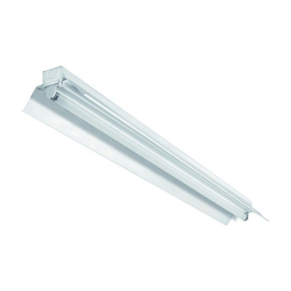 Leuchte Lichtleiste EVG mit Reflektor mit Leuchtstoffröhren 1x 58W 3000K warmweiß T8 G13 150cm Bürolampe, Deckenleuchte, Bürobeleuchtung [Energieklasse A] Bürobeleuchtung pureled